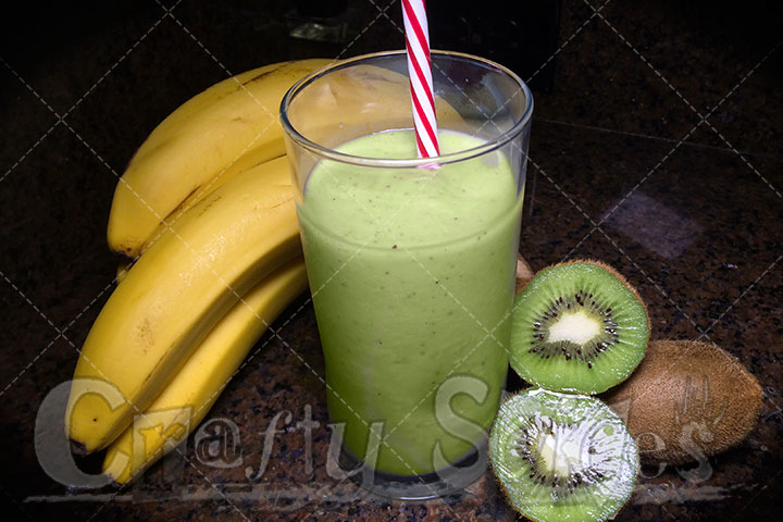 Avocado, Banana & Kiwi Shake