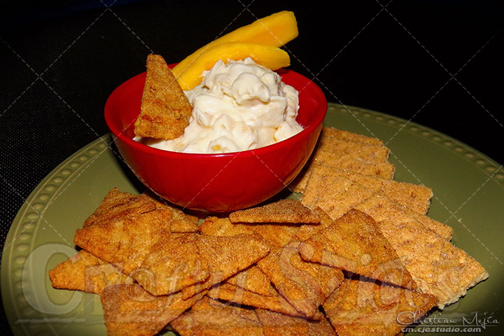 Goat Cheese, Mango Spread with Crackers