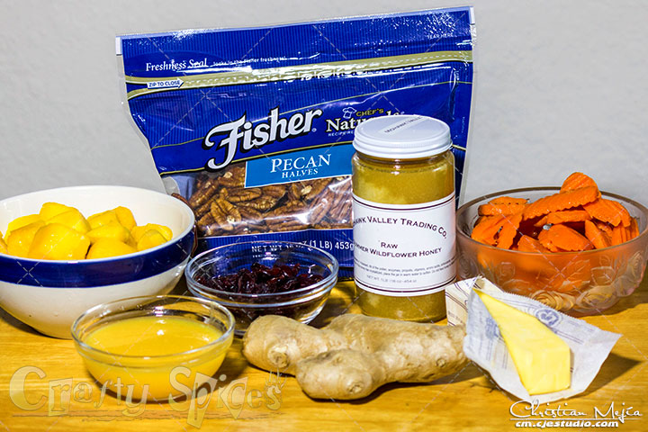 Honey Mango and Carrots ingredients