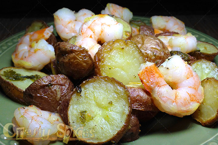 Potatoes with Shrimps