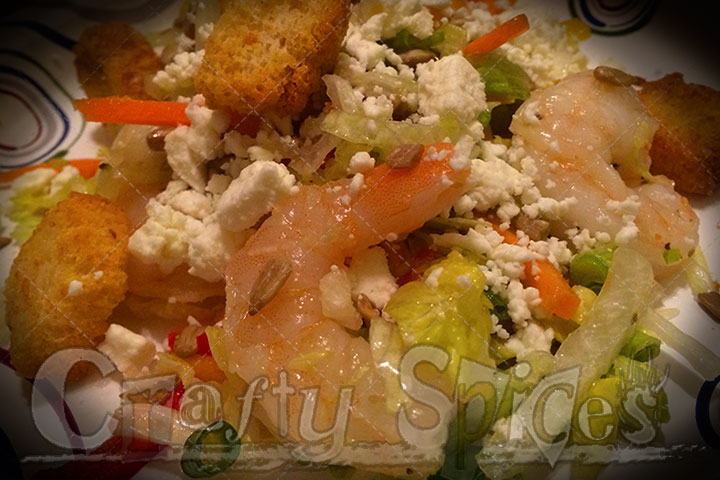 Shrimp Salad with taste flavors