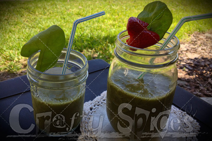 Spinach, Strawberry and Banana Smoothie