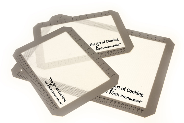 "The Art of Cooking"" 3 Silicone Baking Mats"""