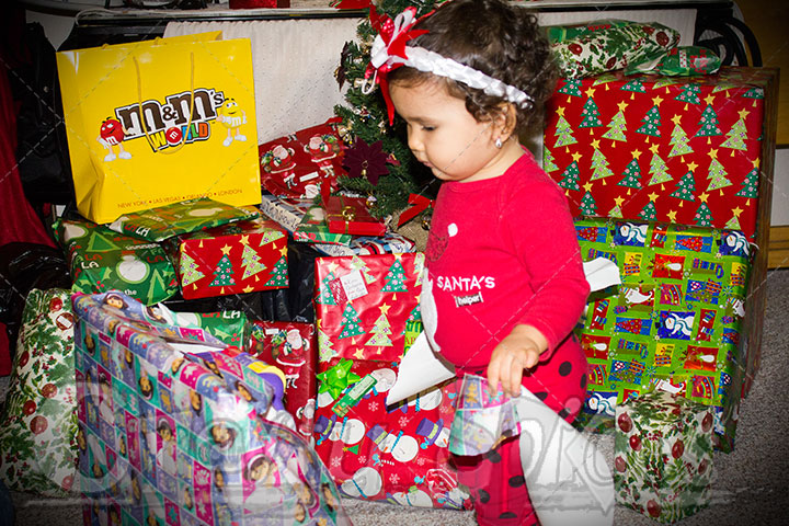 Kaylee opening Christmas Presents