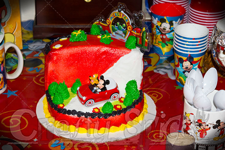 Mickey Mouse Clubhouse Theme Party Cake