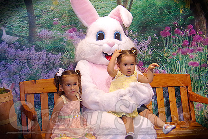 Our Girls with the Easter Bunny 2014