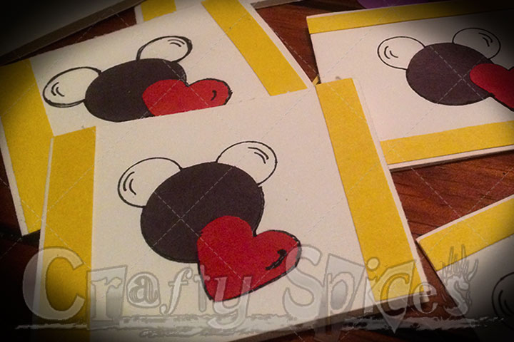 Our #DisneySide Valentine's Mickey Mouse cards