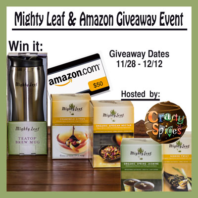 Mighty Leaf & Amazon Gift Card Giveaway Event