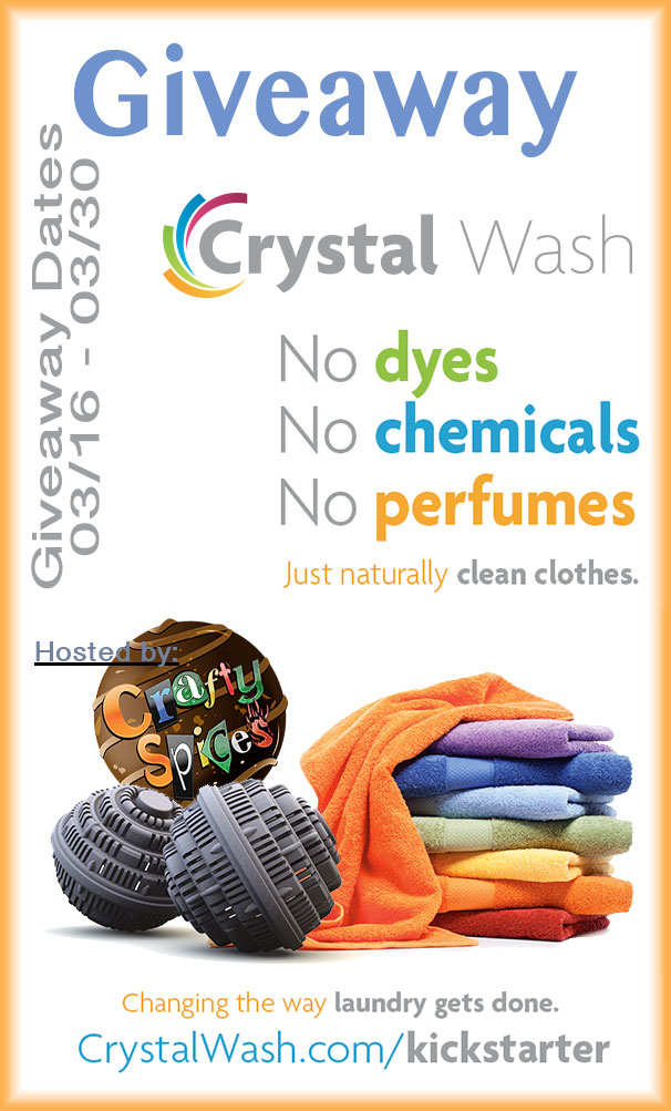 Cristal Wash Giveaway to Change the way you do laundry
