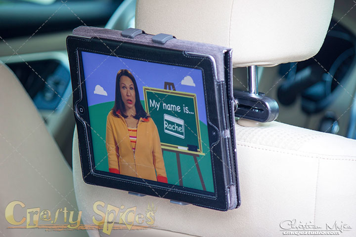 Infernal Innovations Car Tablet Headrest Mount in action