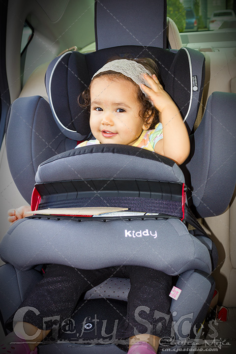 Our 15 Month old traveling on the Kiddy World Plus Car Seat