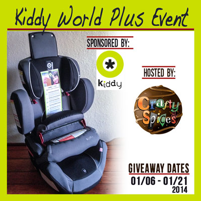 Kiddy World Plus Car Seat Crafty Giveaway