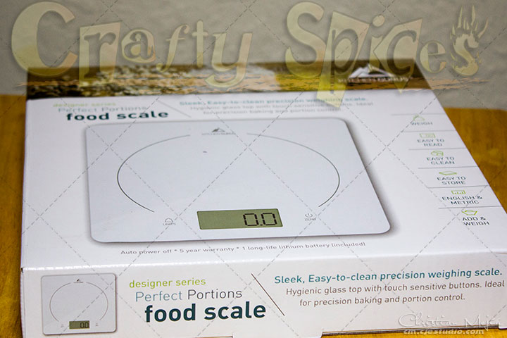 Kitchen Gurus Glass Top Digital Food Scale - Ultra Slim Design and Easy to Clean Surface