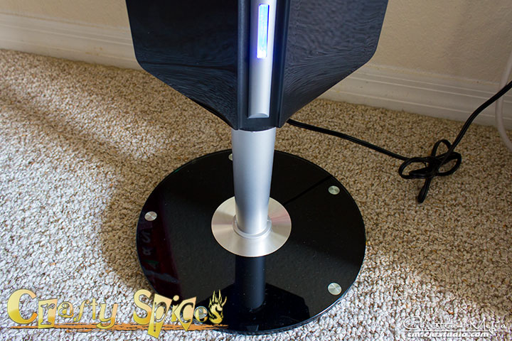 Ozeri 3x Tower Fan with Passive Noise Reduction Technology Pedestal