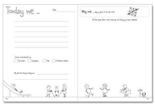 The Victoria Company Kids Travel Journal - Page