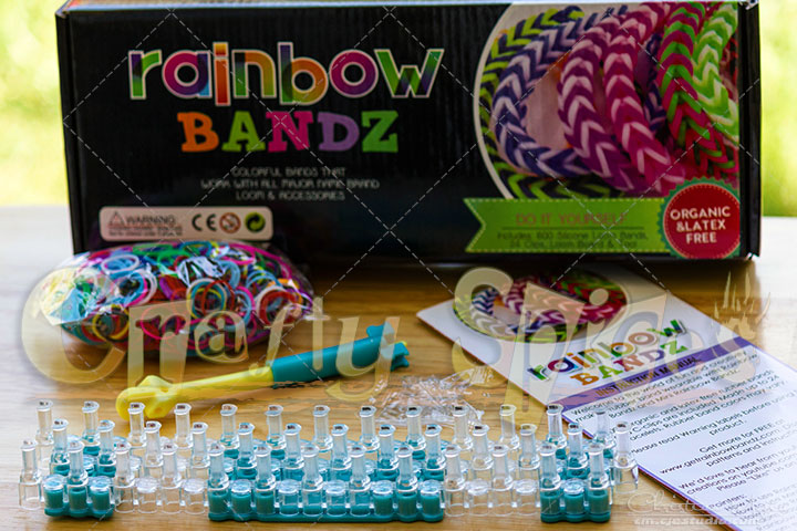 Rainbow Bandz Loom Kit #loomkit all it's content