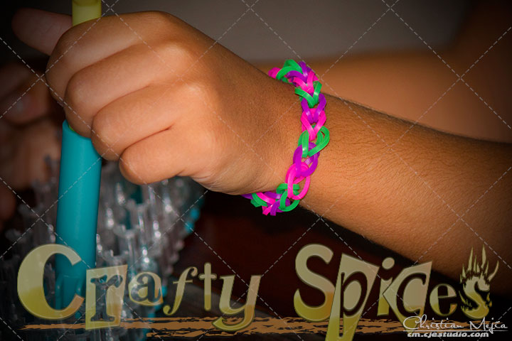 Rainbow Bandz Loom Kit #loomkit - Kira's creation.