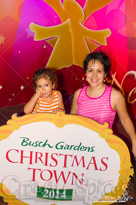 Kira and Me at Busch Gardents Christmas Town