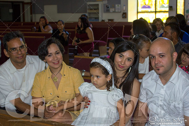 Kaylee's Baptism - Parents Kaylee and Godparents