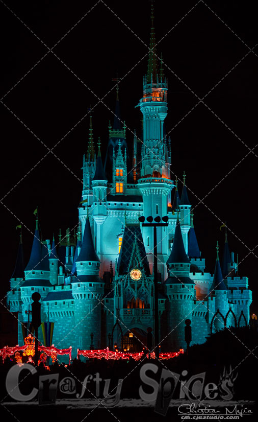 Walt Disney World, Cinderella Castle in Blue