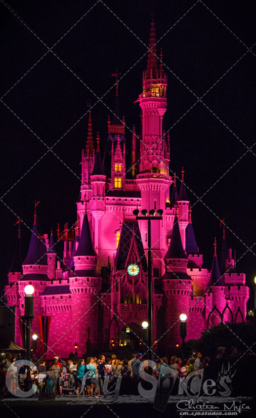 Walt Disney World, Cinderella Castle in Red
