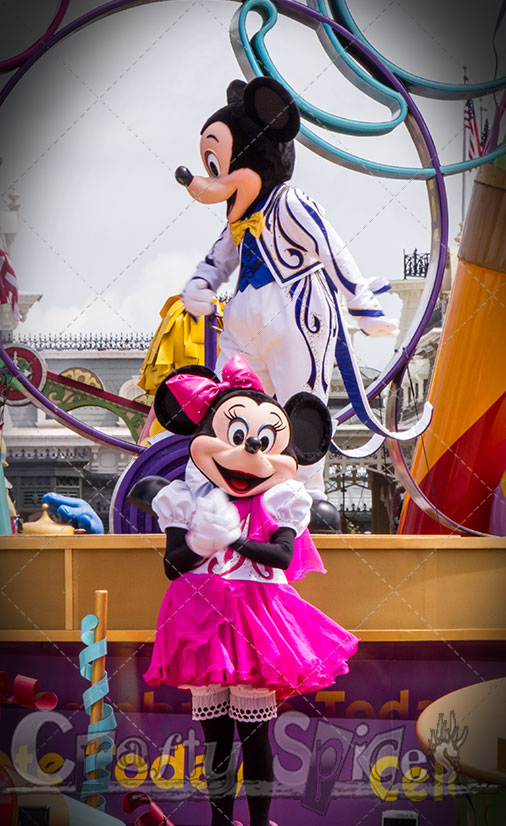 Mickey and Minnie mouse at one of the parade