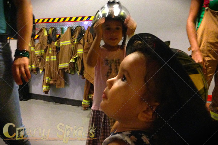 Kira and Kaylee as Firefighters