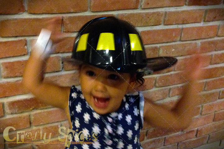 Kaylee the firefighters very excited