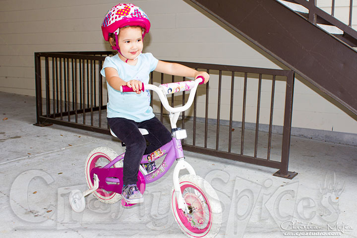 Kaylee Learning to ride Bicycle