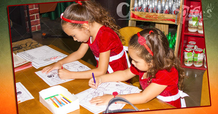 Coloring at Santa's Shop