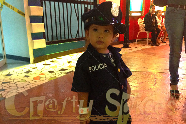 Kaylee as a Police officer