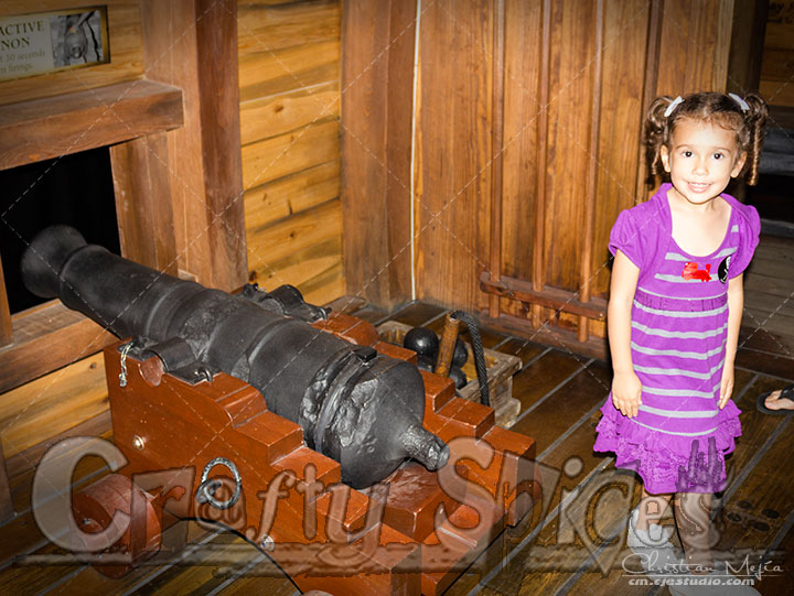Kira Load the cannon @ Pirate & Treasure
