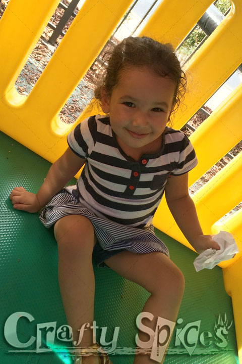 Our two little girls having fun at the Playground