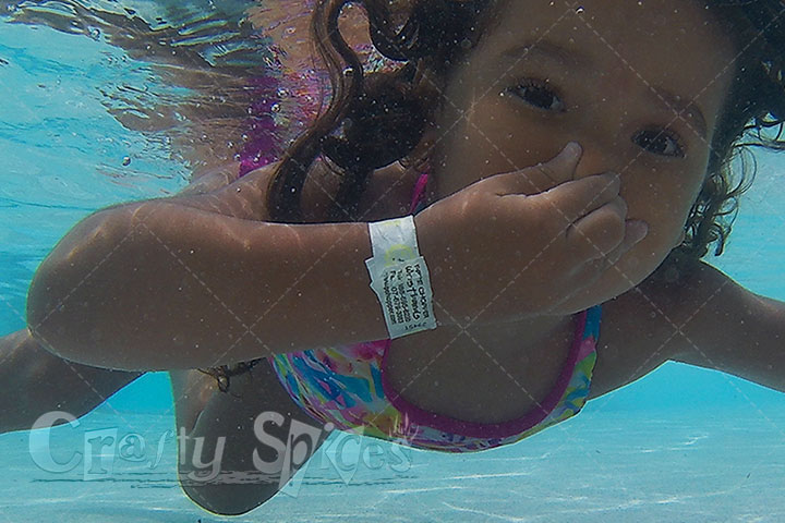 3Year Old underwater swimmer