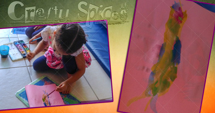 Our little-little artist Water paint