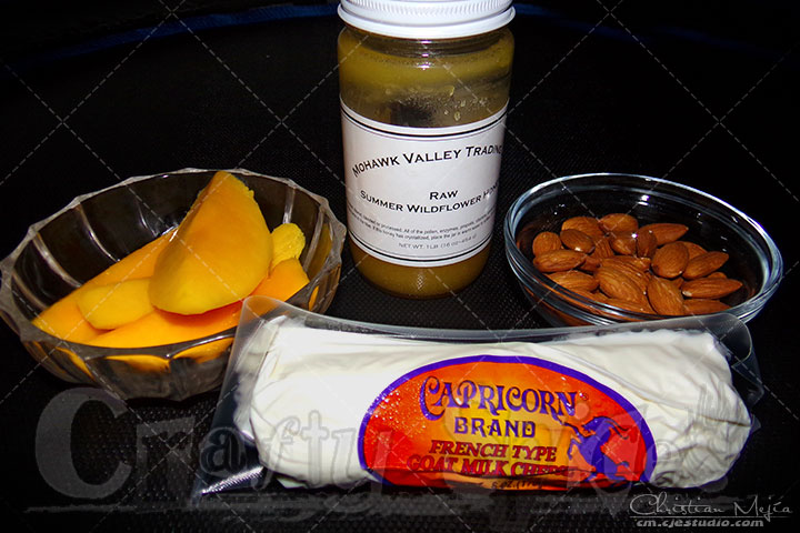 Goat Cheese, Mango Spread - Ingredients
