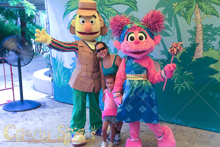 Pictures with Abby and Bert at Busch Gardens