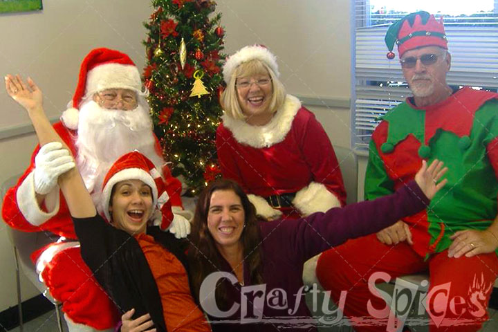 Christmas 2014, That's me and my friend with Santa, Mrs. Claus, and an Elf