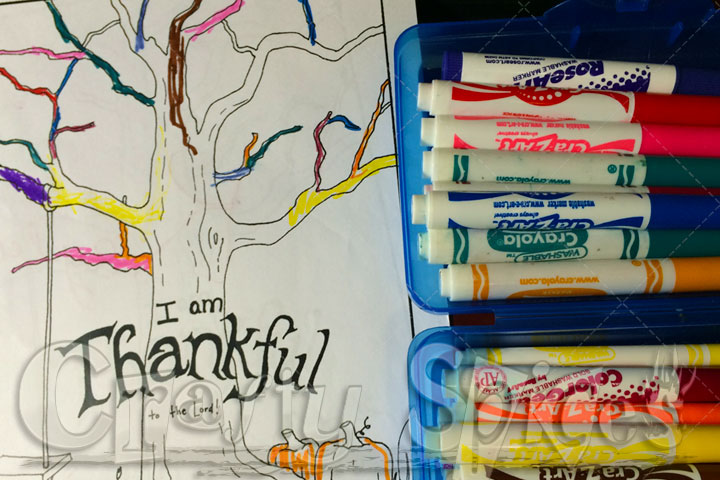 Coloring a Thankful tree