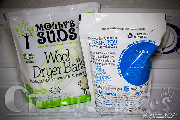 Molly's Suds Laundry Powder and Wool Dryer Balls