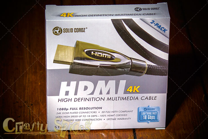 4K HDMI Cable Ultra Premium Series by Solid Cordz®
