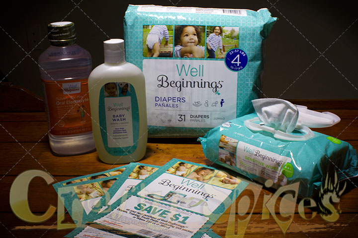 Well Beginnings diapers, wipes, and baby wash at Walgreens